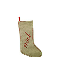 Burlap Noel Stocking quick info