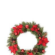 Poinsettia Wreath - Red/Green quick info