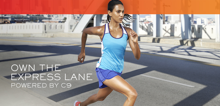 own the express lane, powered by c9