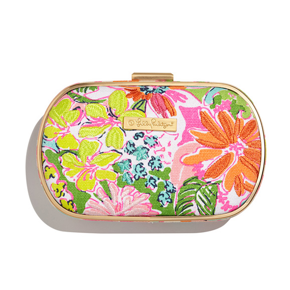 Lilly Pulitzer for Target - Embroidered Clutch in the Nosie Posey print ($24)