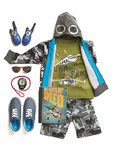 Outfit your fearless flyer in Bravo & Echo from Disney Planes.