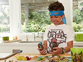start the day like a ninja & eat a healthy breakfast.