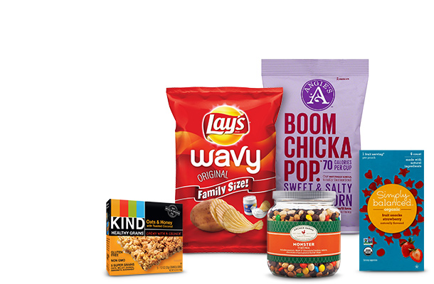 all cookies, chips & snacks