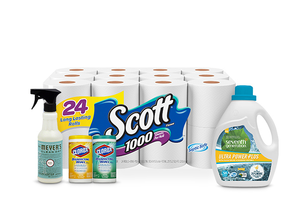 Save $15 when you spend $50 on household essentials