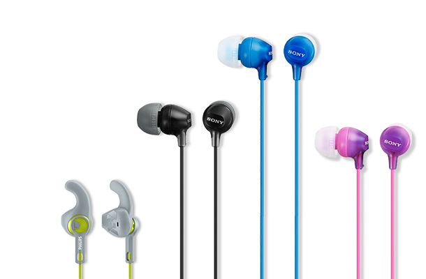 Gym headphones the rock - Philips SHE3590GY - earphones Overview