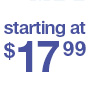 starting at $17.99