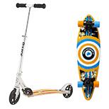 scooters, skateboards & skates