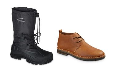 winter and chukka boots