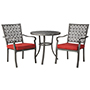 Threshold™ Hawthorne 3-Piece Metal Patio Bistro Furniture Set - Red