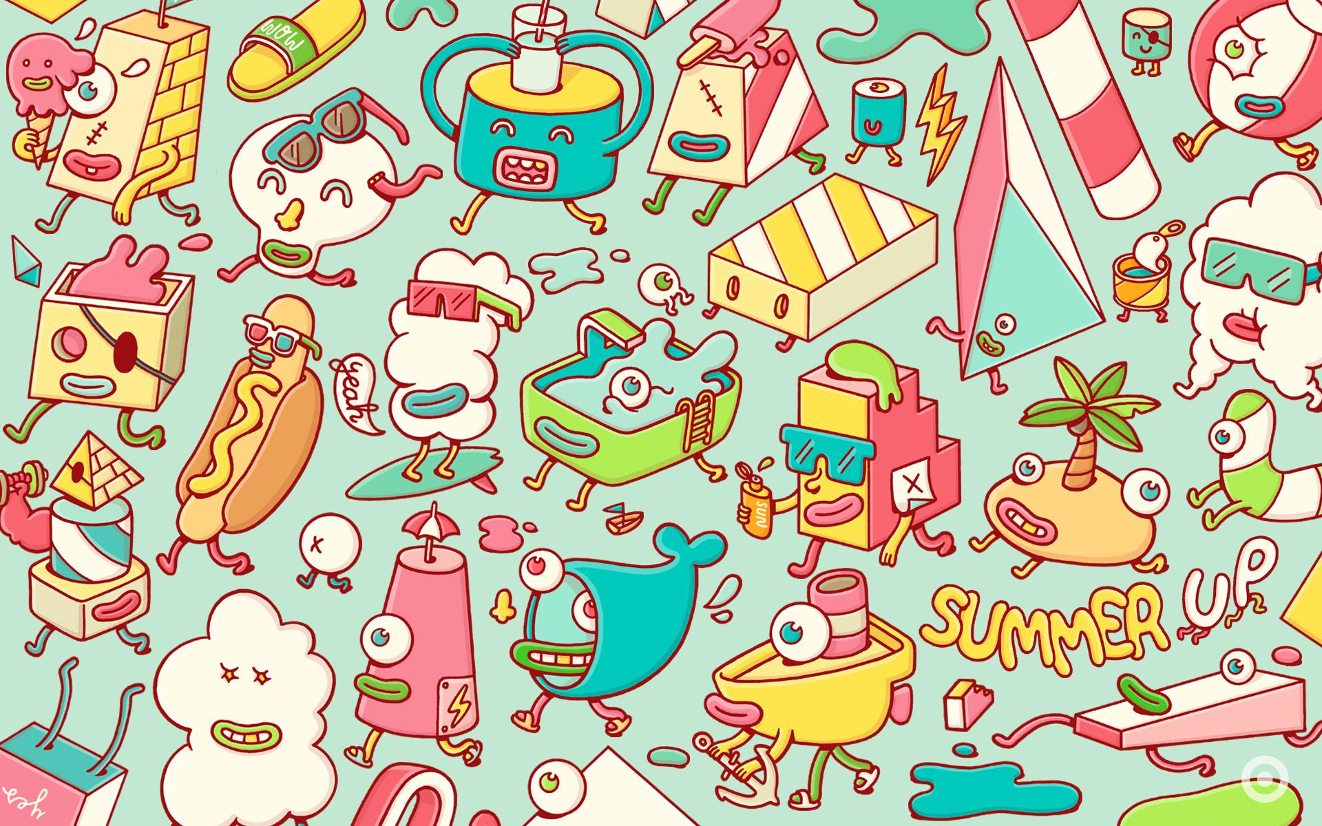 Animal Print Wall Stickers Cute Doodle Wallpaper Tumblr Www Pixshark Com Images